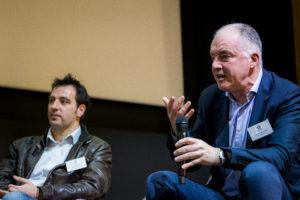 Georges Nikolaïdis, directeur de Technifutur, aux côtés de Pascal Balancier, représentant de l'Agence du Numérique. Photo: Ezequiel Scagnetti